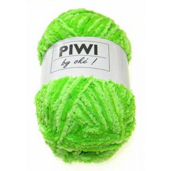 pelote de laine vert anis