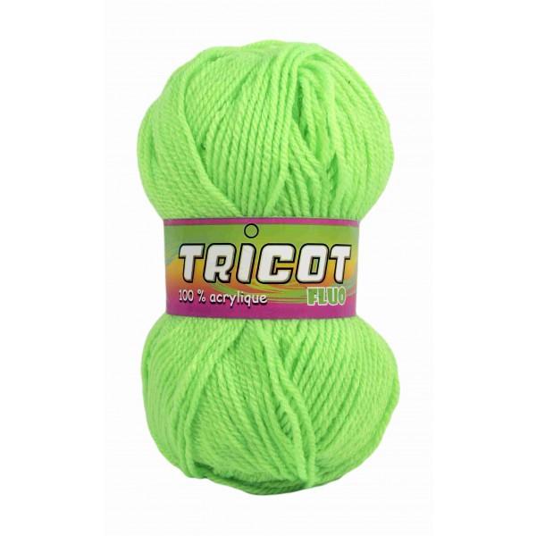 pelote de laine vert fluo