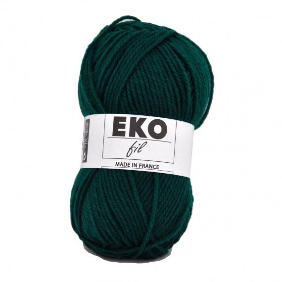 pelote de laine vert sapin