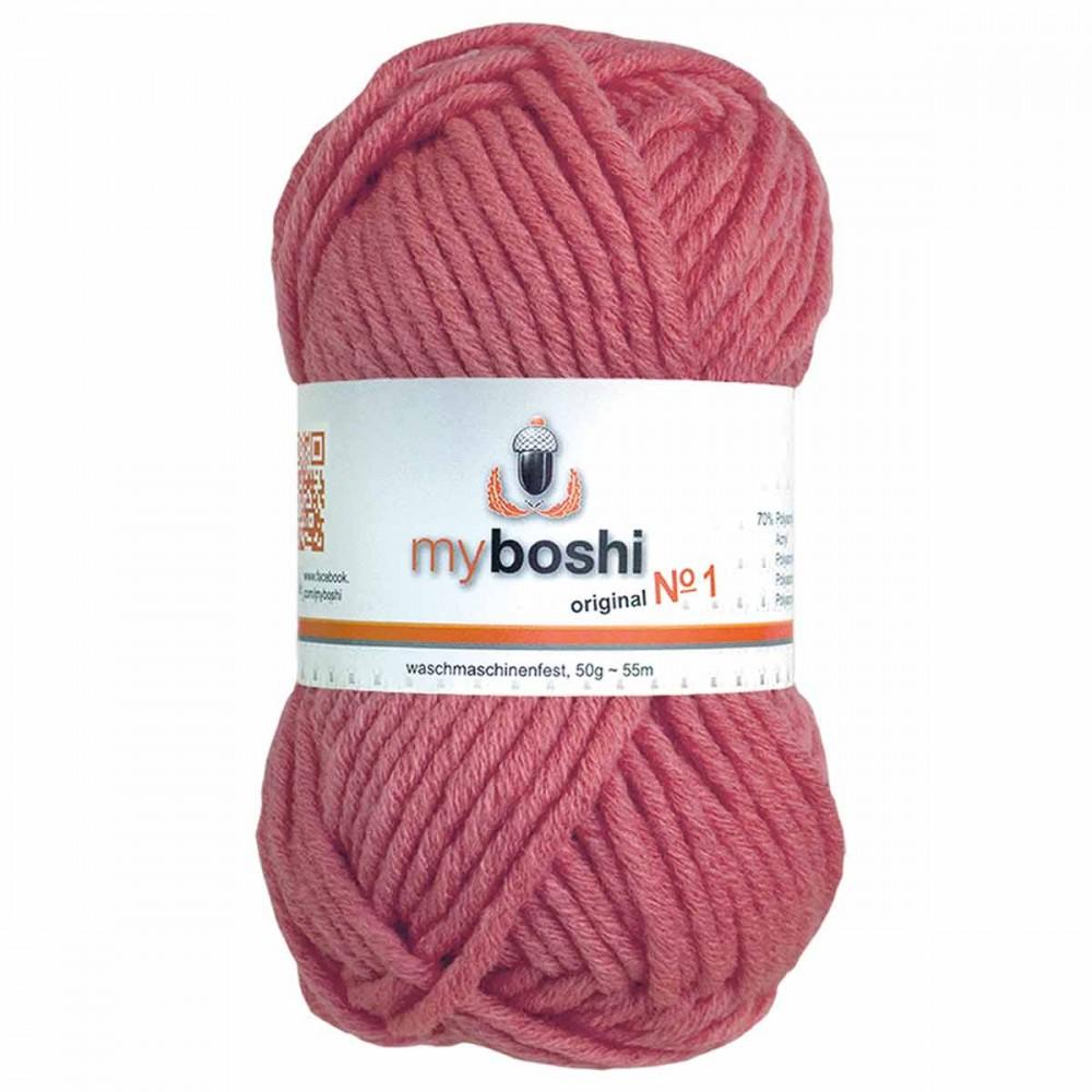 pelote de laine vieux rose