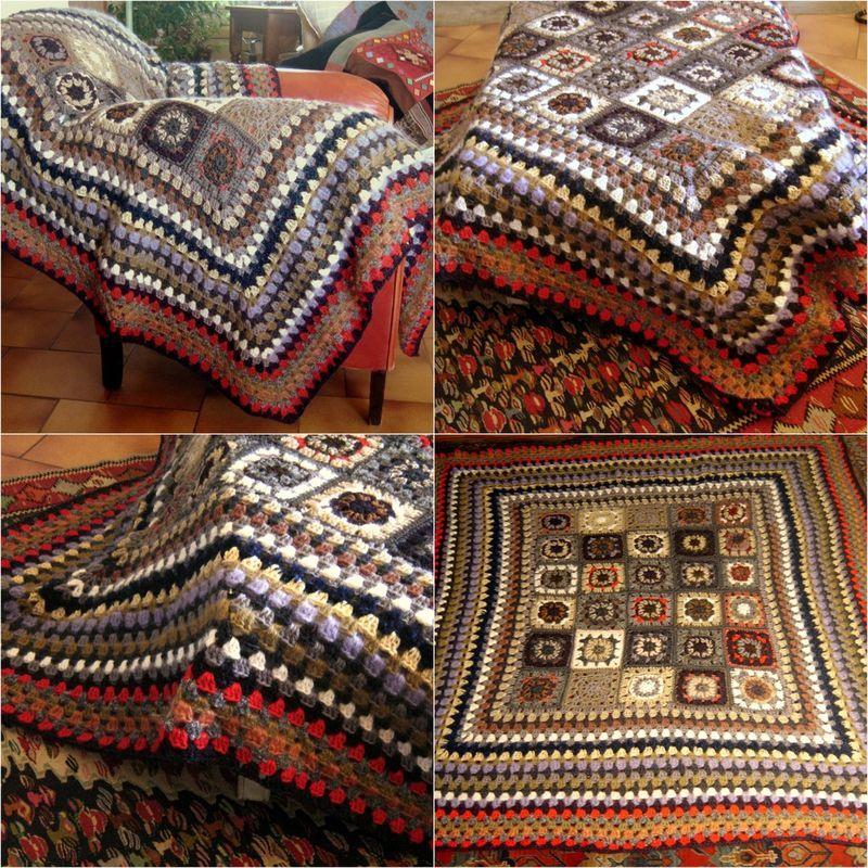 plaid crochet grosse laine