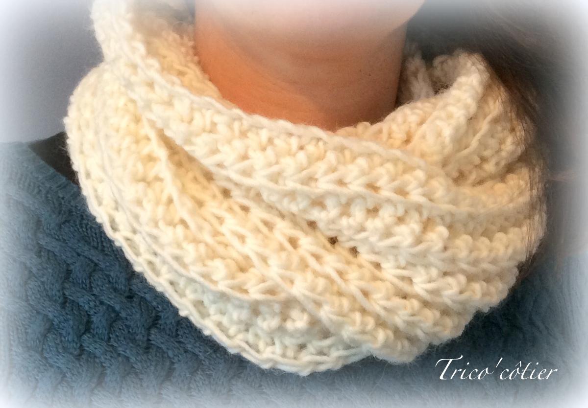 point crochet grosse laine