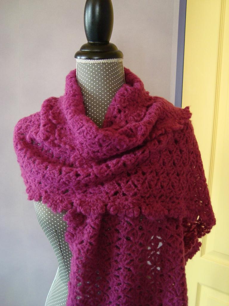 point crochet laine mohair