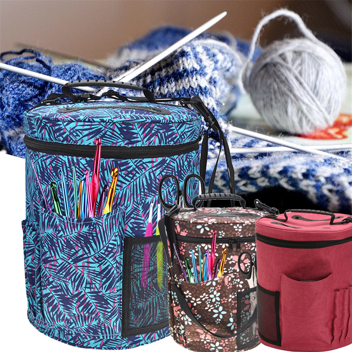 rangement crochet laine