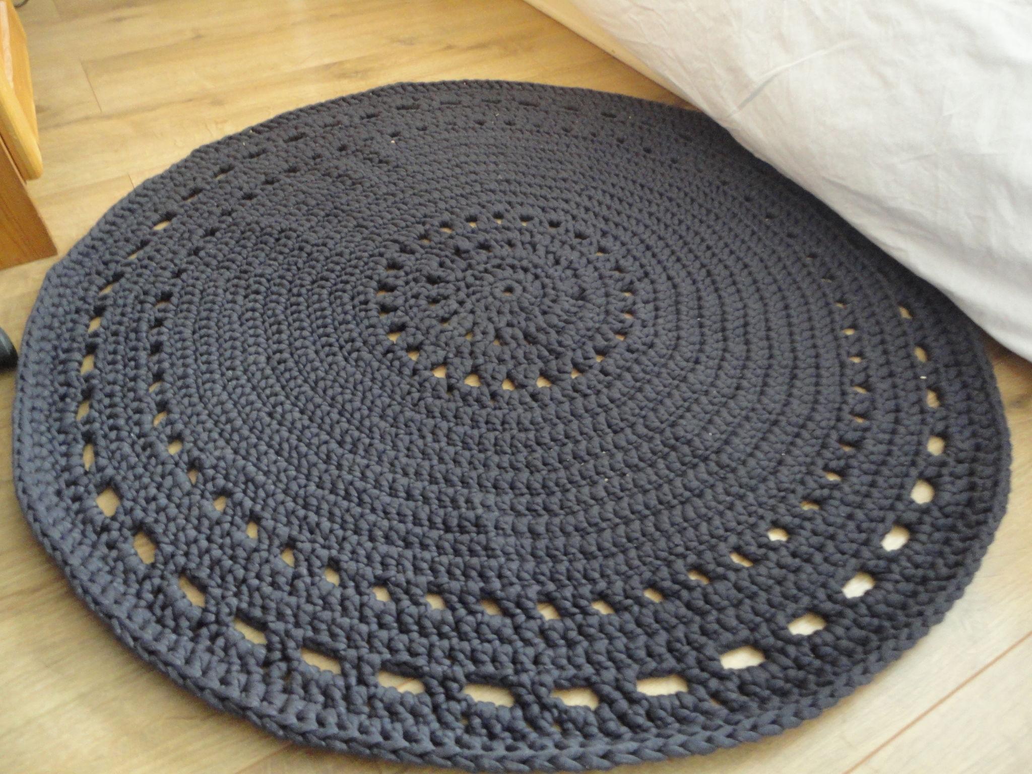tapis crochet en laine