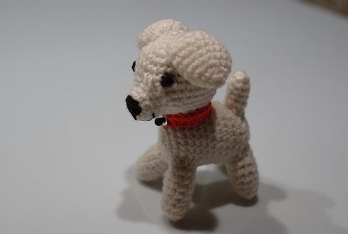 chien en laine a tricoter