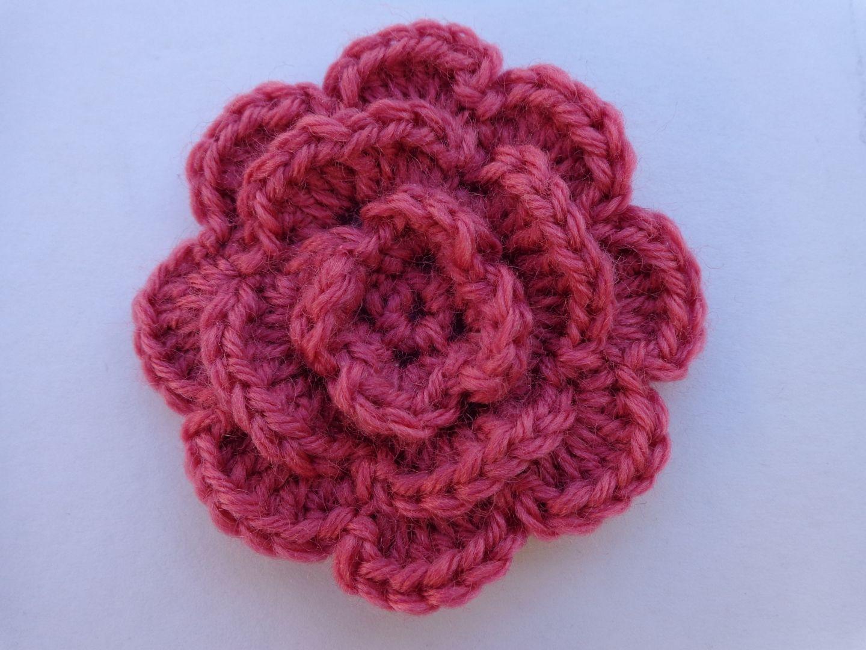tricot laine fleur