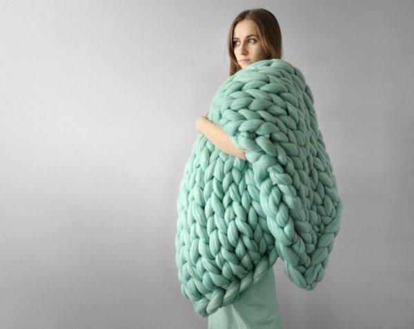 tricot laine geante