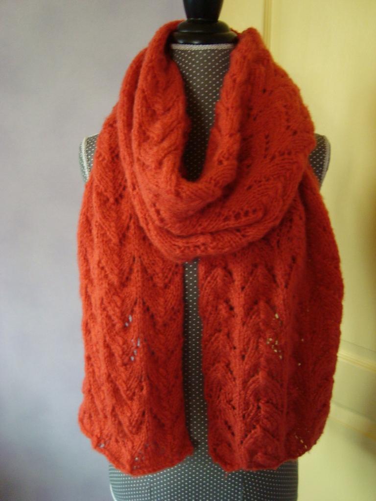 tricot laine orange