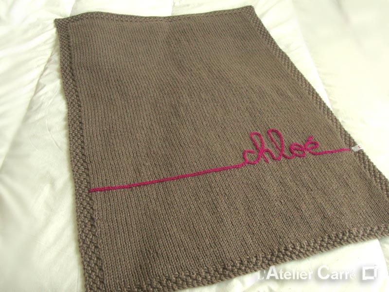 tricot laine pour couverture bebe