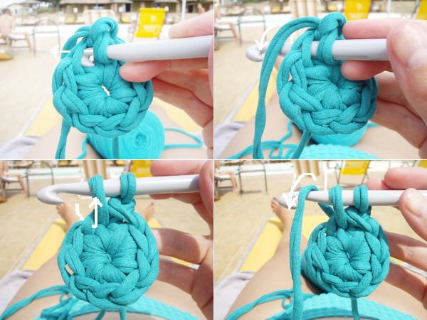 crochet laine epaisse
