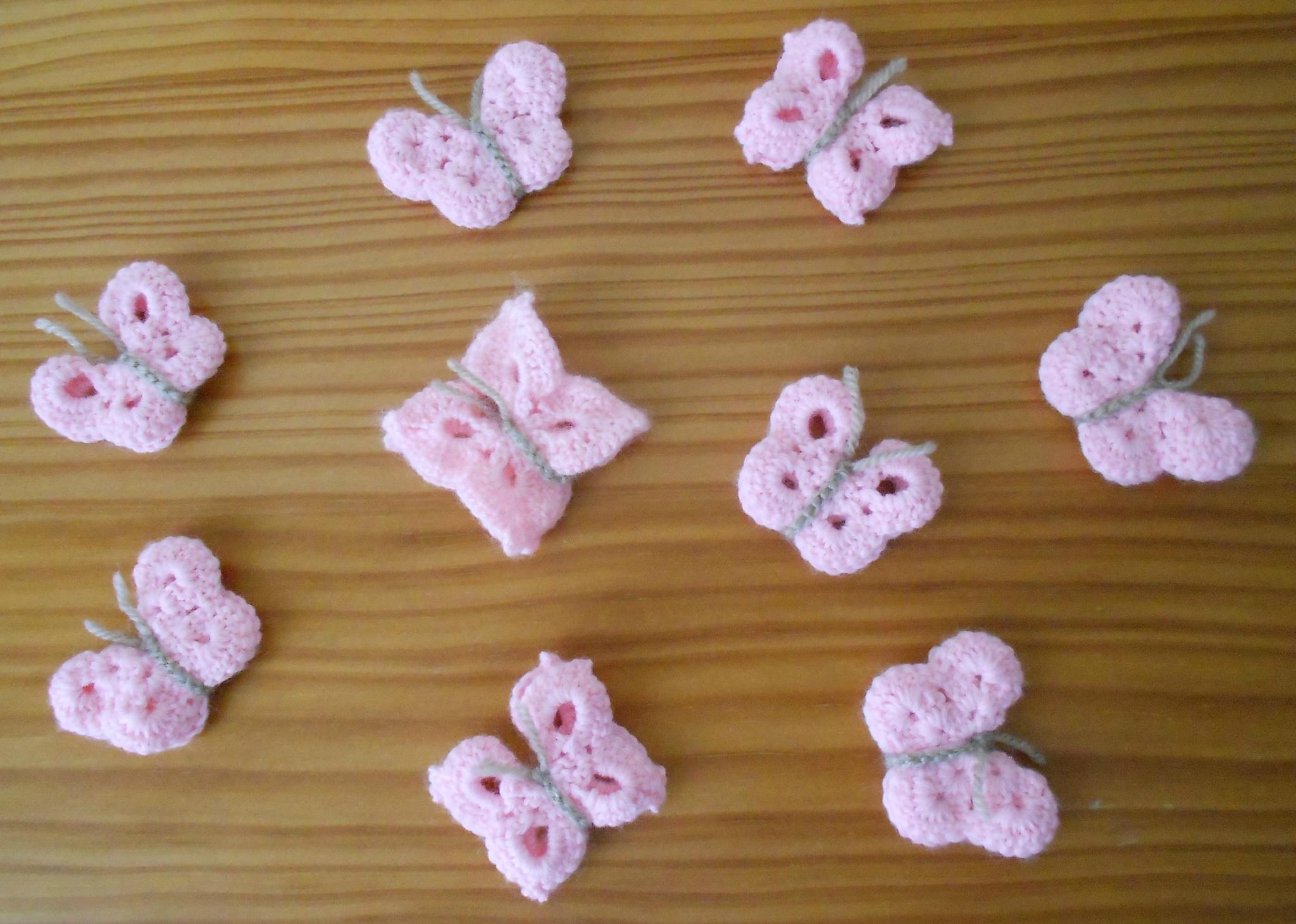 crochet laine papillon