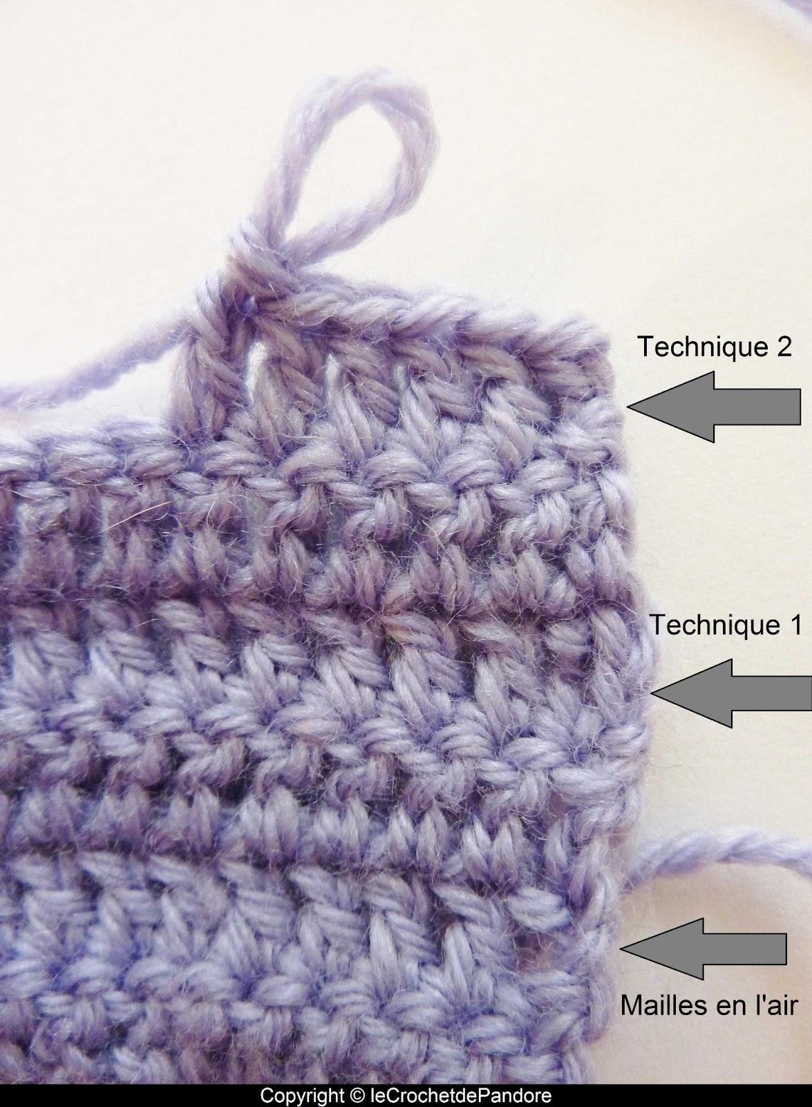 crochet laine technique
