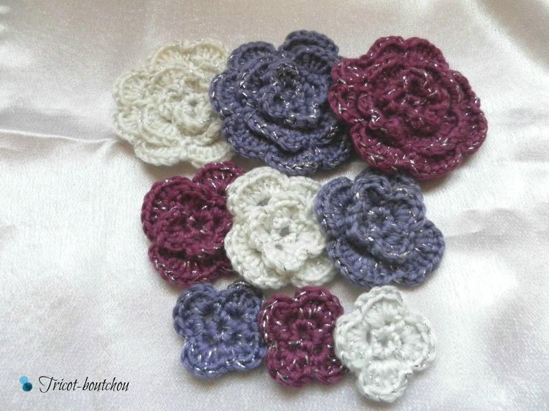 fleur crochet en laine