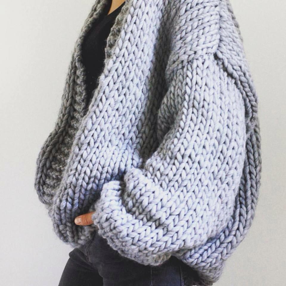 gilet crochet grosse laine