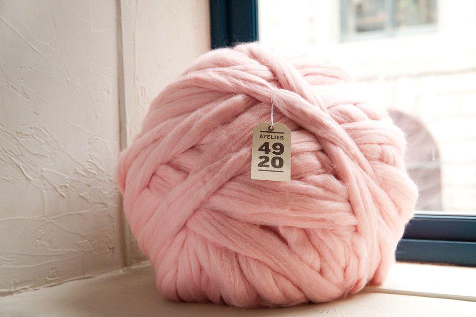 laine a tricoter geante