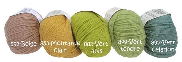 laine a tricoter vert anis