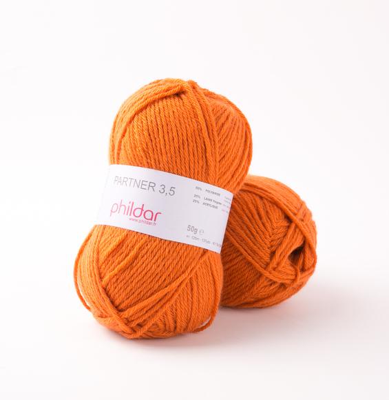 laine phildar orange
