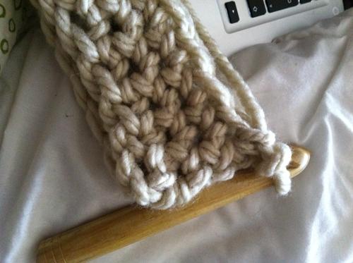 modele crochet grosse laine