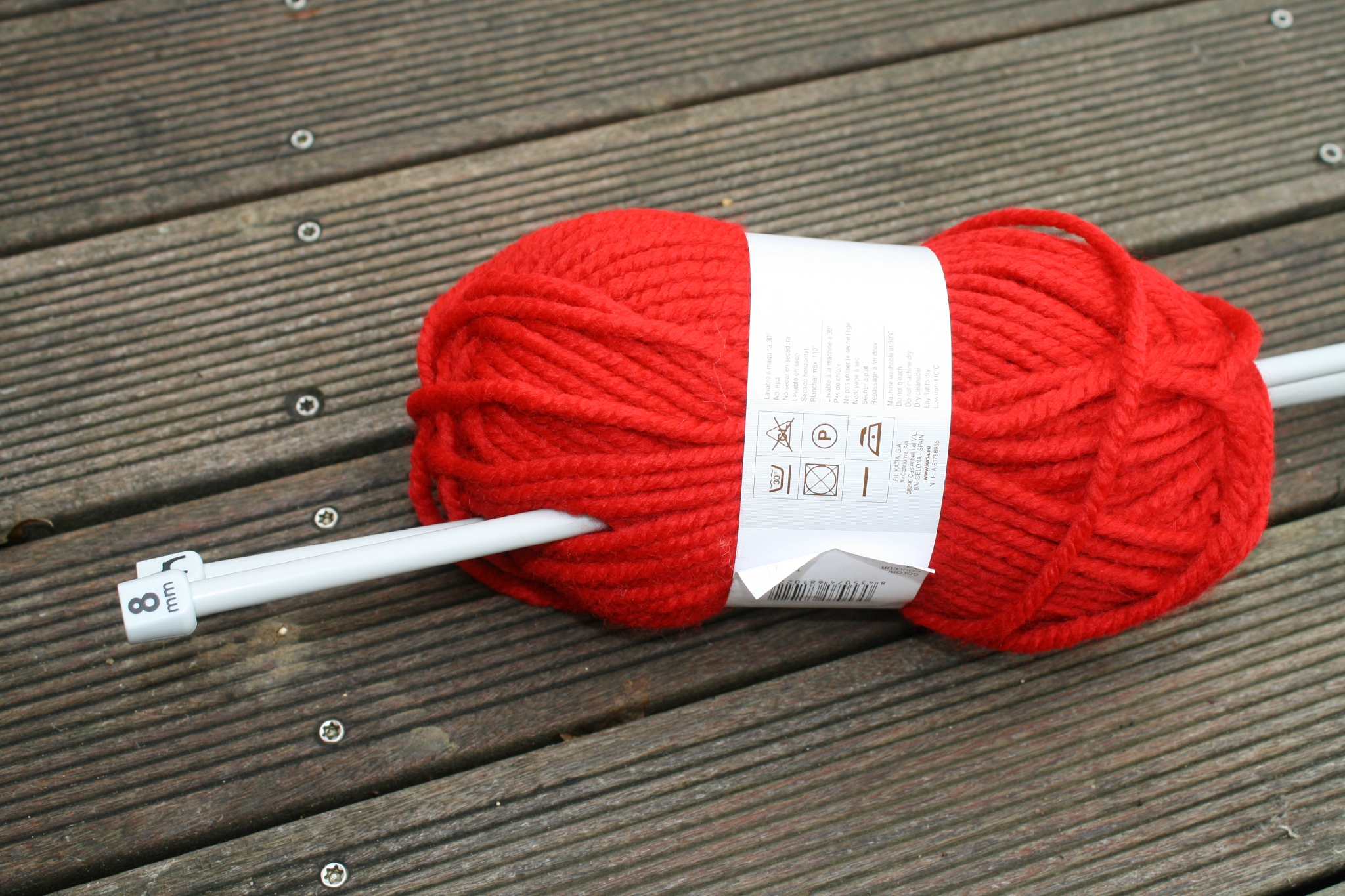 pelote de laine aiguille 8