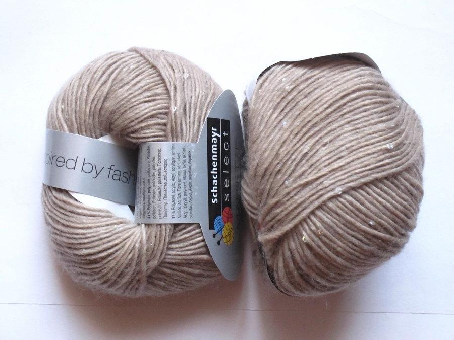 pelote de laine avec paillettes