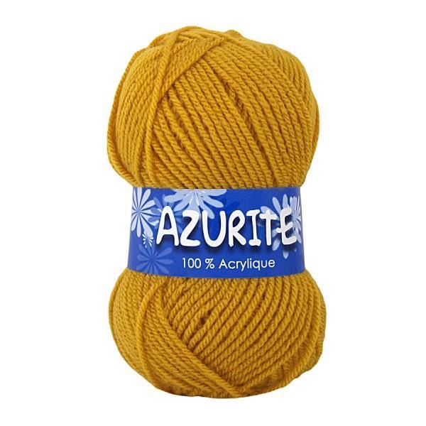 pelote de laine couleur moutarde