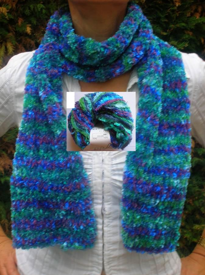 pelote de laine echarpe