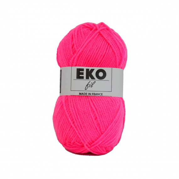 pelote de laine fluo