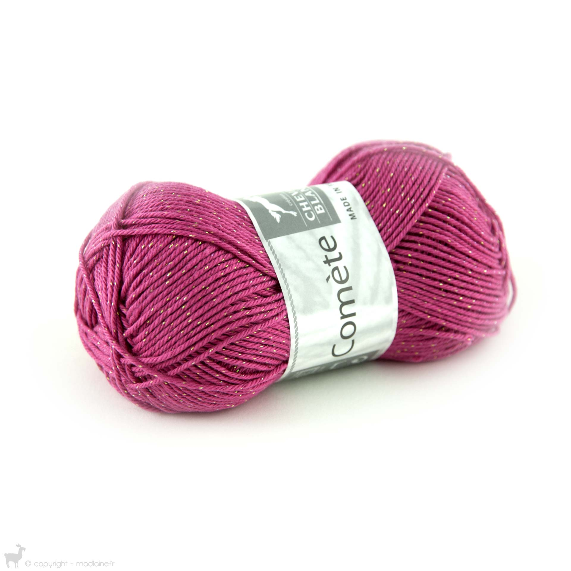 pelote de laine framboise