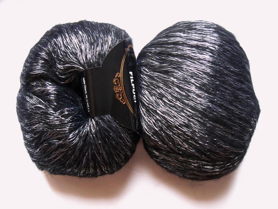 pelote de laine lurex