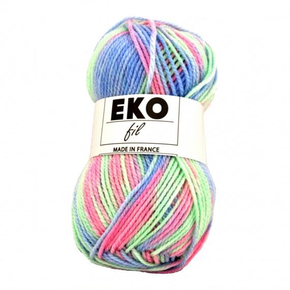 pelote de laine multicolore