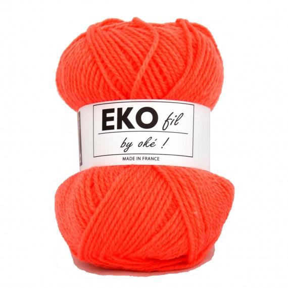 pelote de laine orange