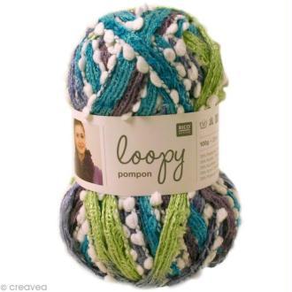 pelote de laine pour echarpe froufrou