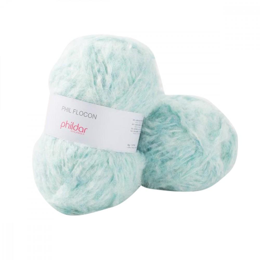 pelote de laine tricot flocon