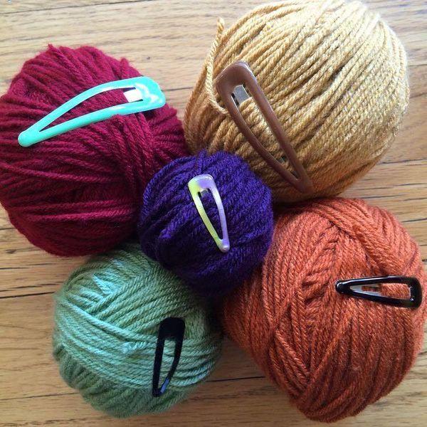 pelote de laine tricotin