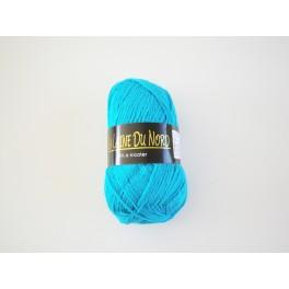 pelote de laine turquoise