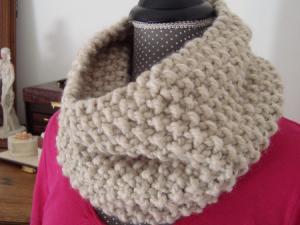 snood crochet grosse laine