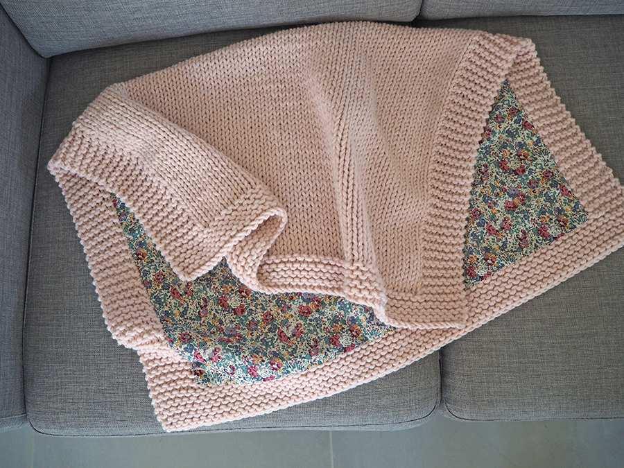 tricot laine couverture bebe