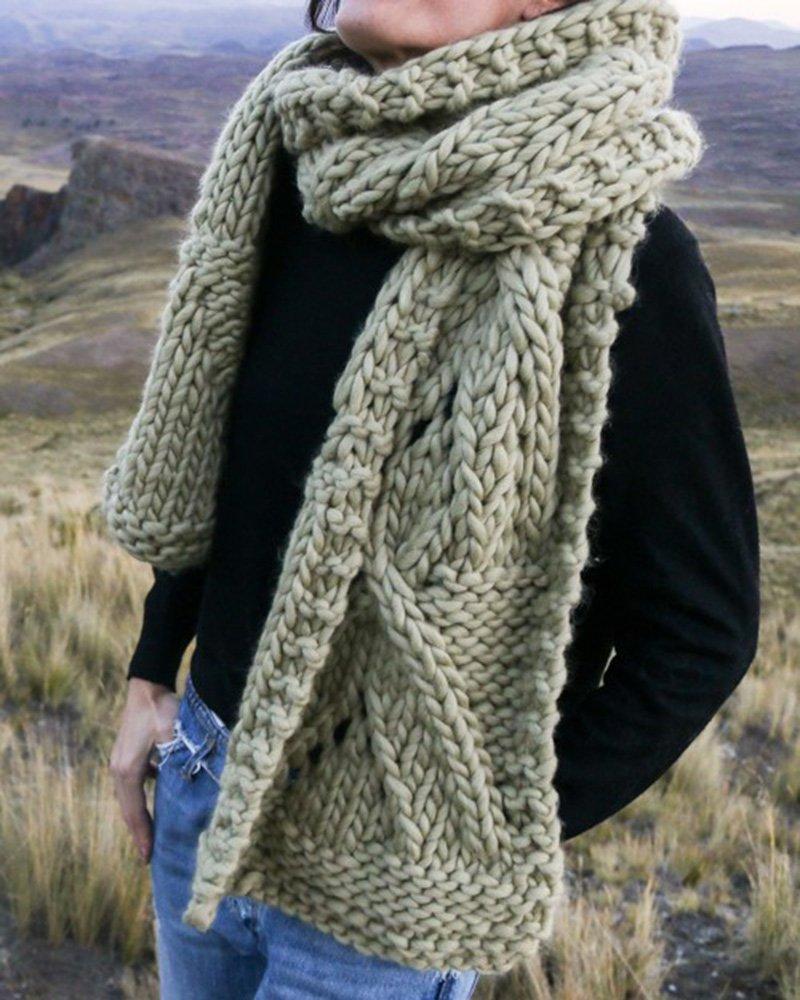 tricot laine echarpe