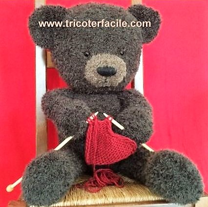 tricot laine ours