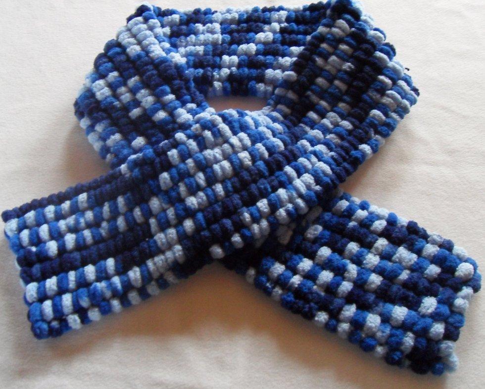 tricot laine pompon