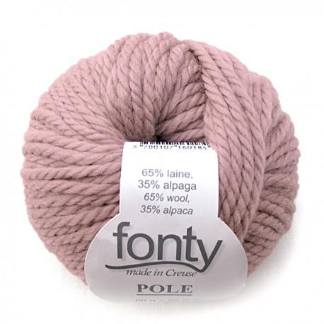 tricot laine rose
