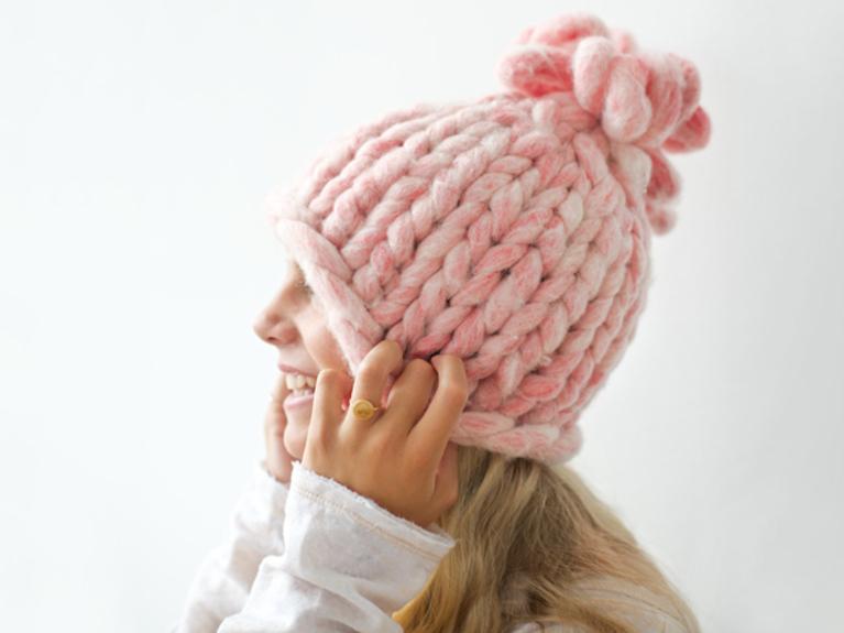 tuto bonnet crochet grosse laine